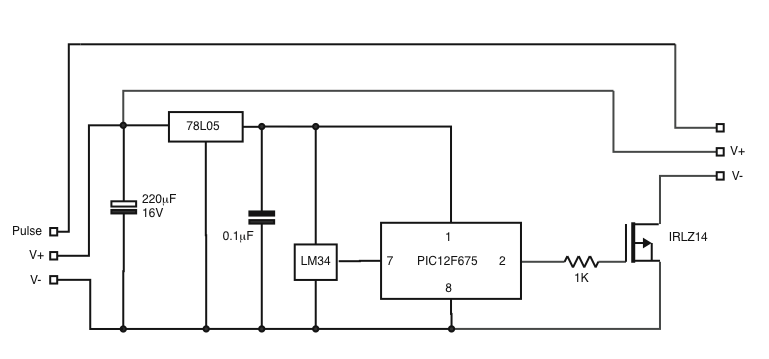 pc temperature controlled fan interface