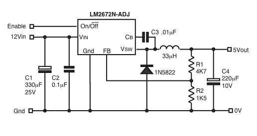 5v switching regulator circuit
