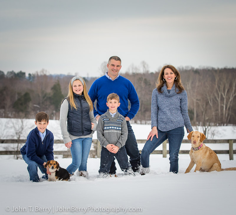 January 25, 2016. Myers Family, snow