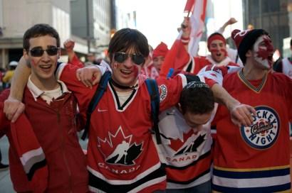 Fans on Granville Street