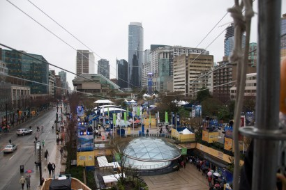 Zipline over Robson Square