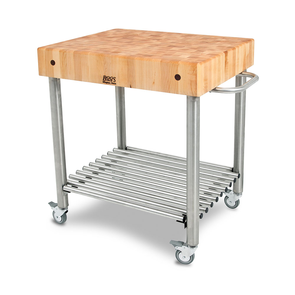 John Boos Kitchen Island Bar Kitchen Carts: Cucina D'amico - Maple Top W/ Towel Bar