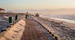 muizenberg beach early morning activity