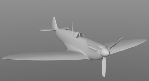 3D spitfire WIP