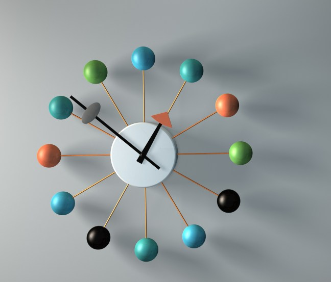 3D Clock, CInema 4D