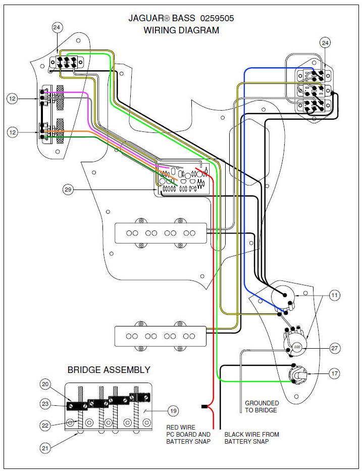 squier jaguar bass wiring diagram