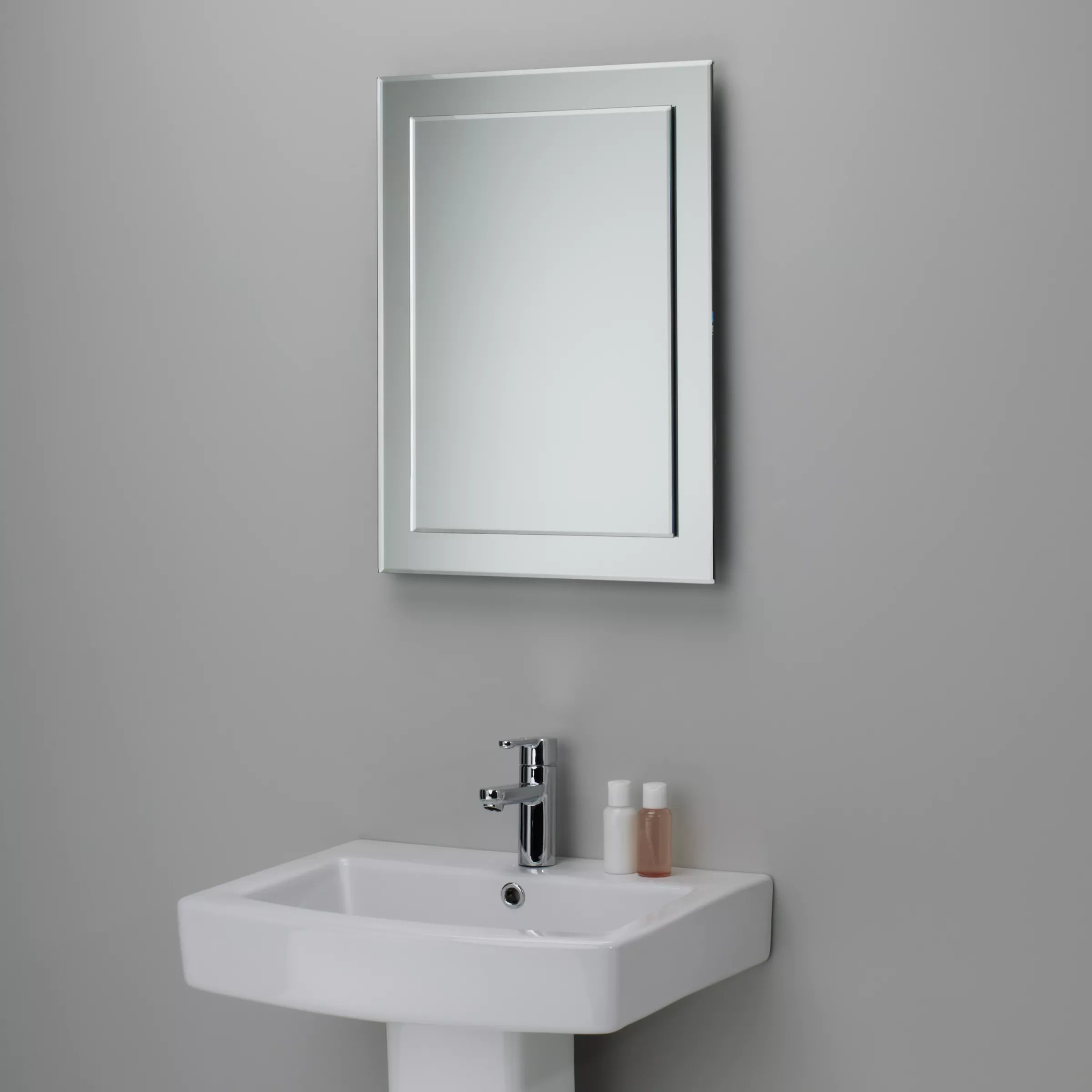 Tv In Bathroom Mirror Price John Lewis And Partners Duo Wall Bathroom Mirror 60 X 45cm