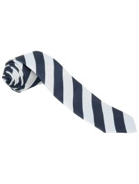School Boys' Tie, Navy/Silver at John Lewis