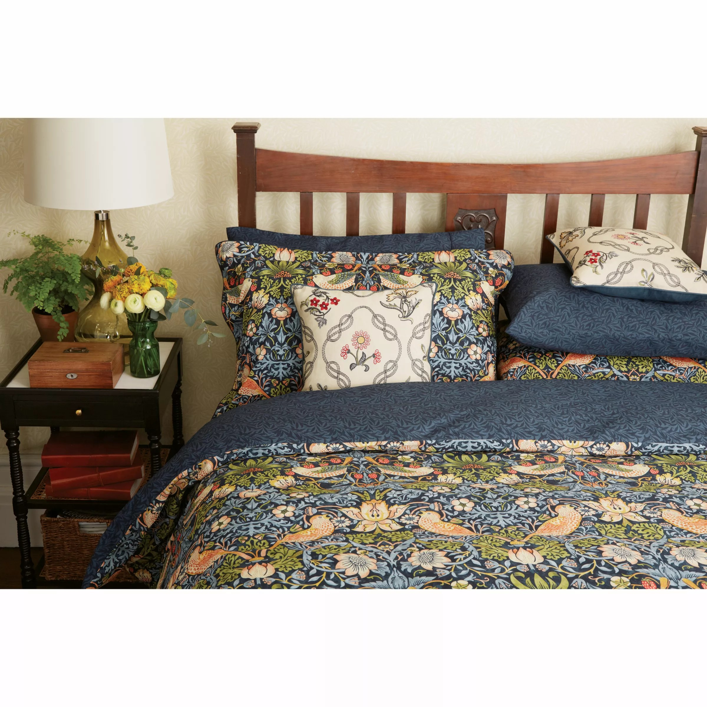 Crushed Velvet Bed Ebay Morris Co Strawberry Thief Cotton Bedding At John Lewis Partners