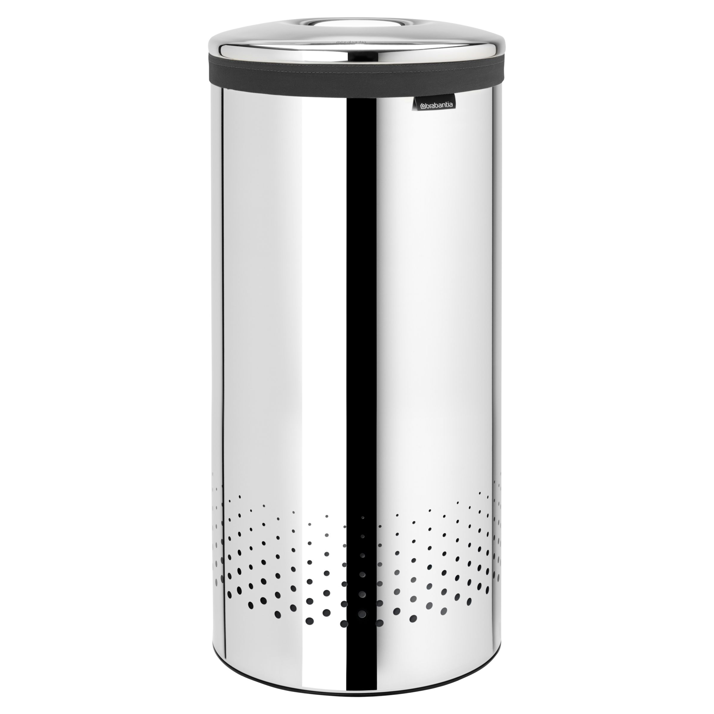 Metal Wash Bin Brabantia Laundry Bin Brilliant Steel 30l At John Lewis Partners