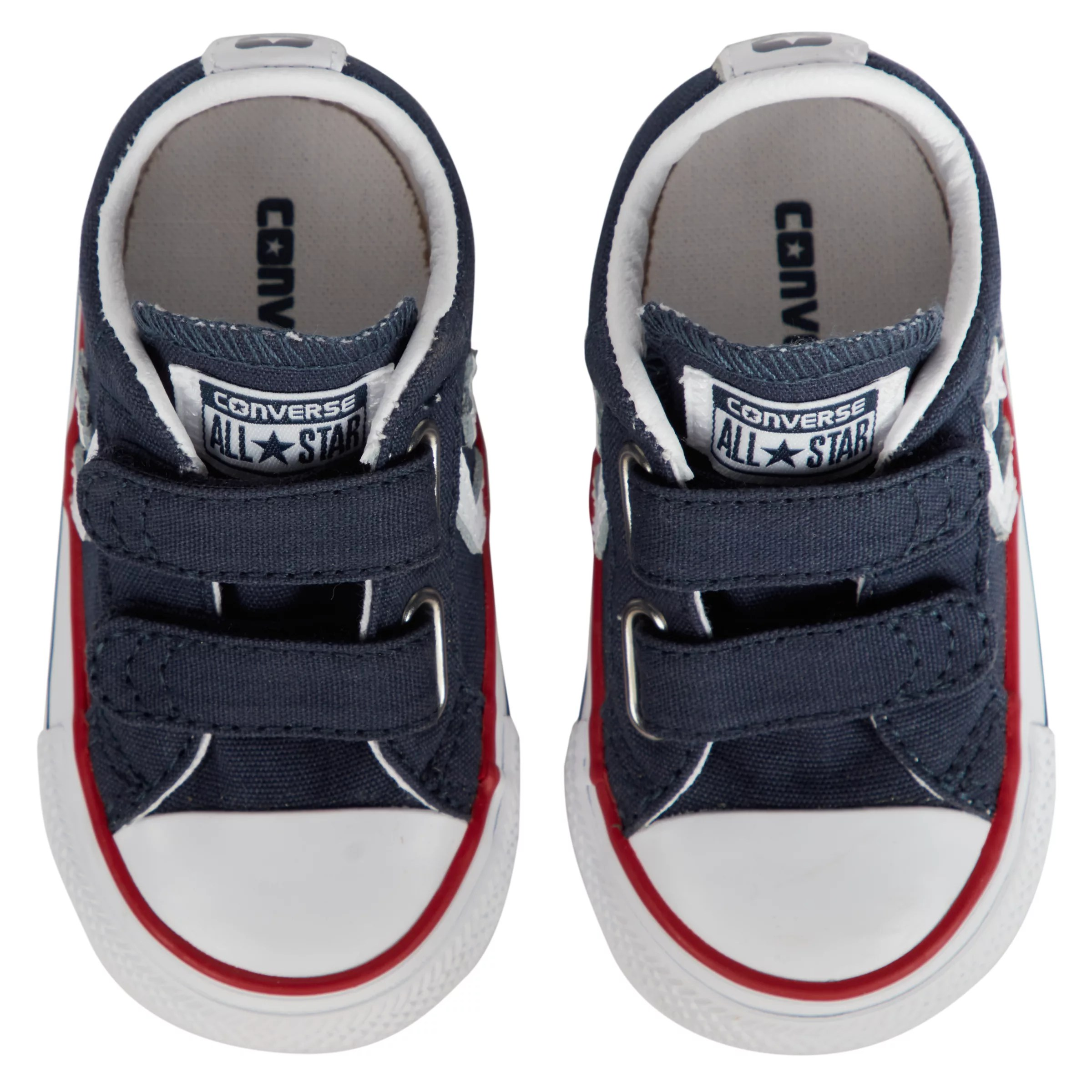 Baby White Converse Pram Shoes Converse Children S Star Player 2v Shoes Navy White At John