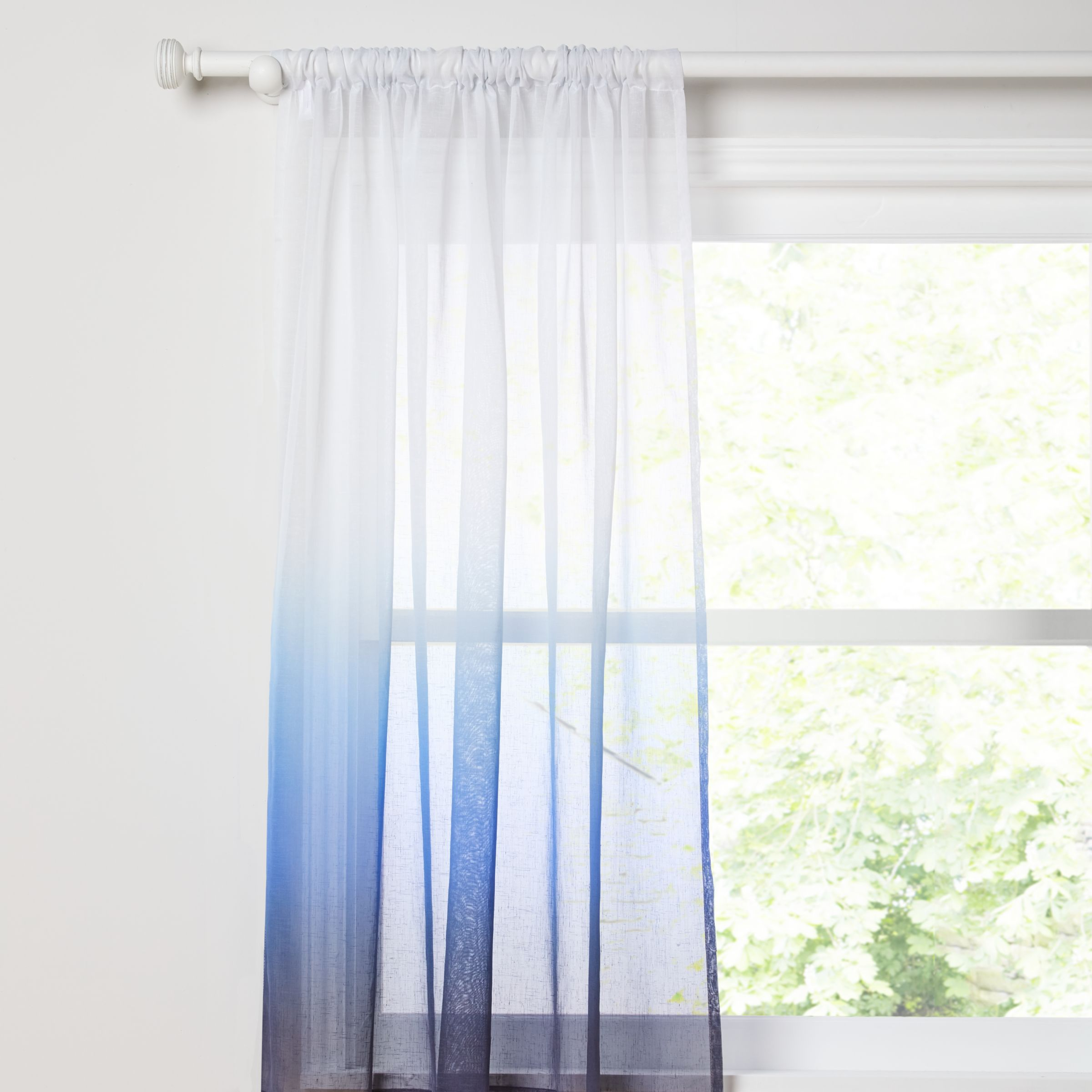 Ready Made Sheer Curtains Online John Lewis Ombre Voile Panel Blue At John Lewis