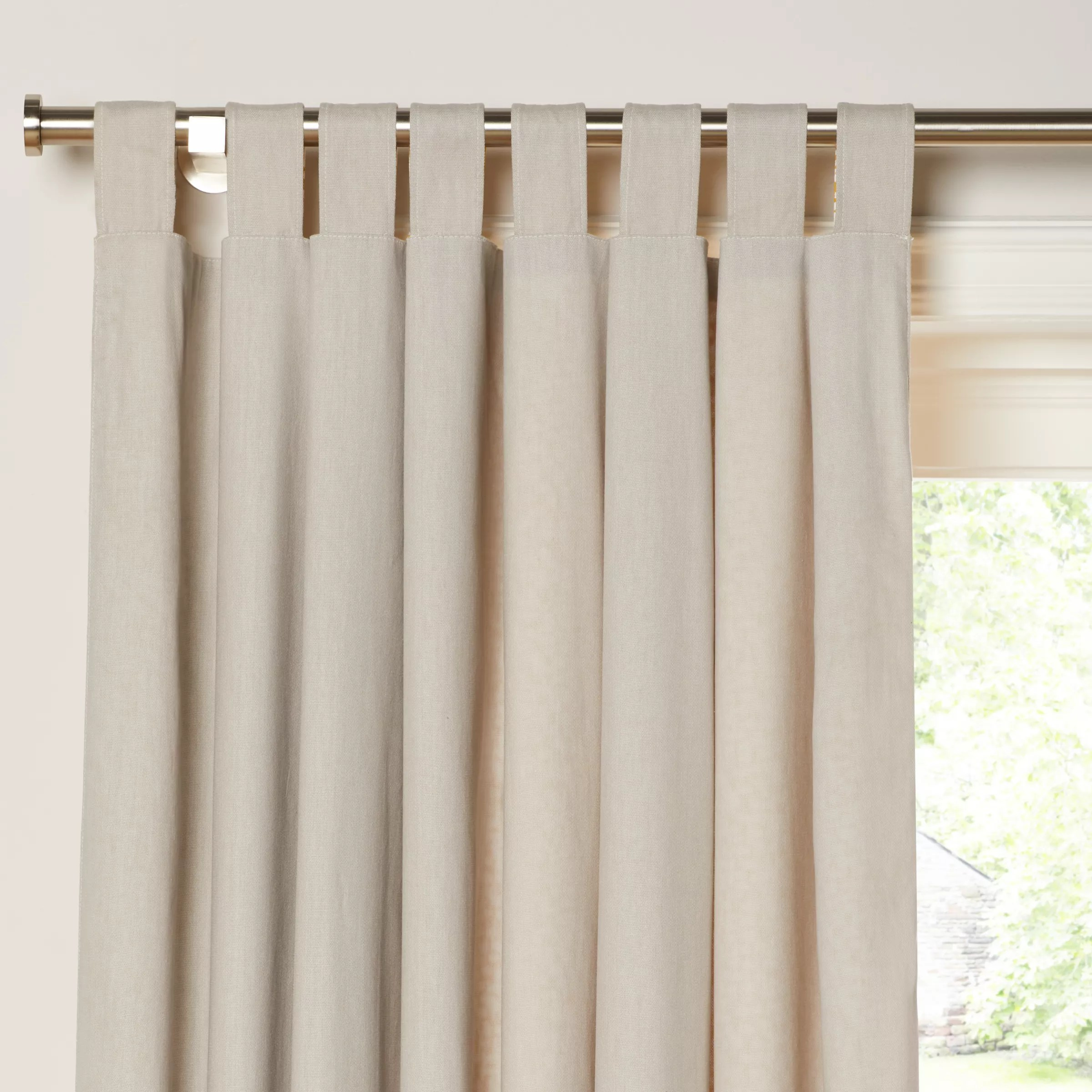 Tab Top Curtain House By John Lewis Yin Pair Reversible Tab Top Curtains Mustard