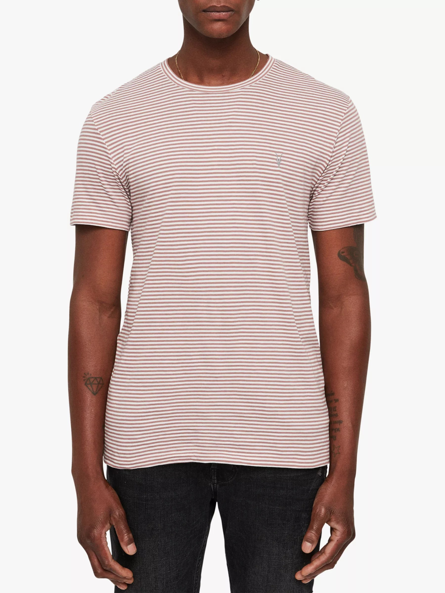 Xxl Sessel Roqu Allsaints Roku Tonic Stripe T Shirt Red Chalk White At John Lewis
