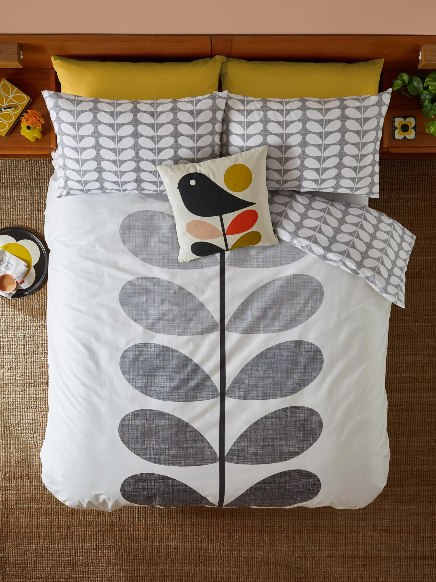 Orla Kiely Bedding John Lewis Orla Kiely Placement Scribble Bedding Pebble At John Lewis Partners