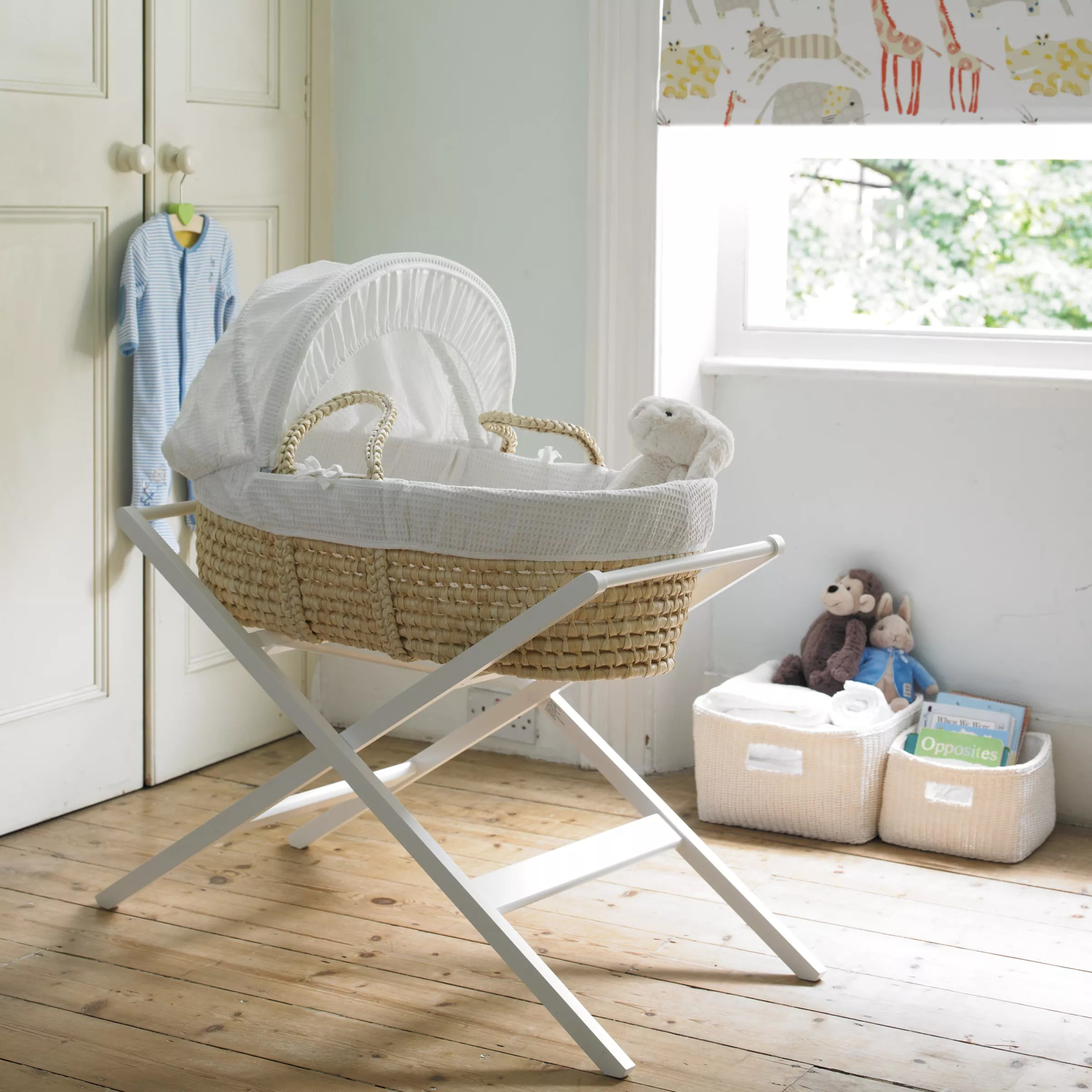 Baby Bassinet Moses Basket John Lewis Partners Moses Basket Stand White