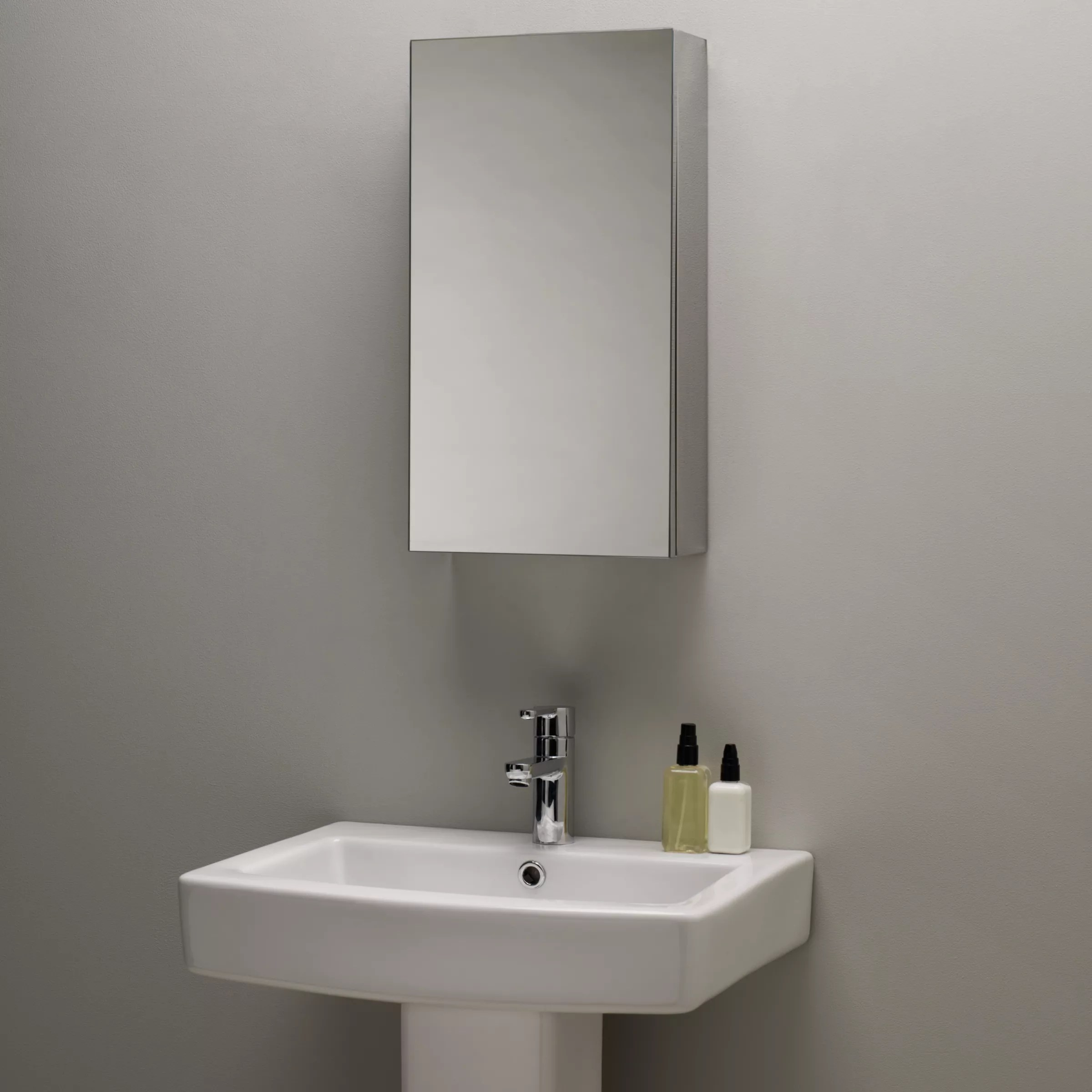 Stainless Steel Mirrored Bathroom Cabinets John Lewis Single Mirrored Bathroom Cabinet Small