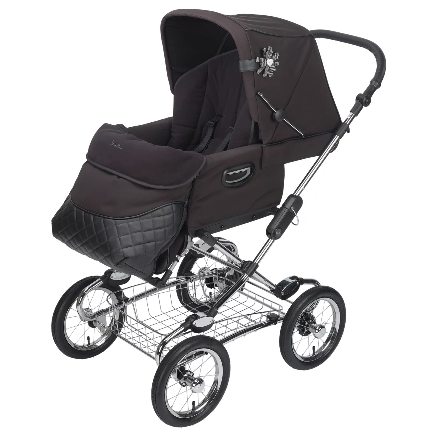 Silver Cross Elegance Buggy Board Silver Cross Sleepover Elegance Pram Body Black At John