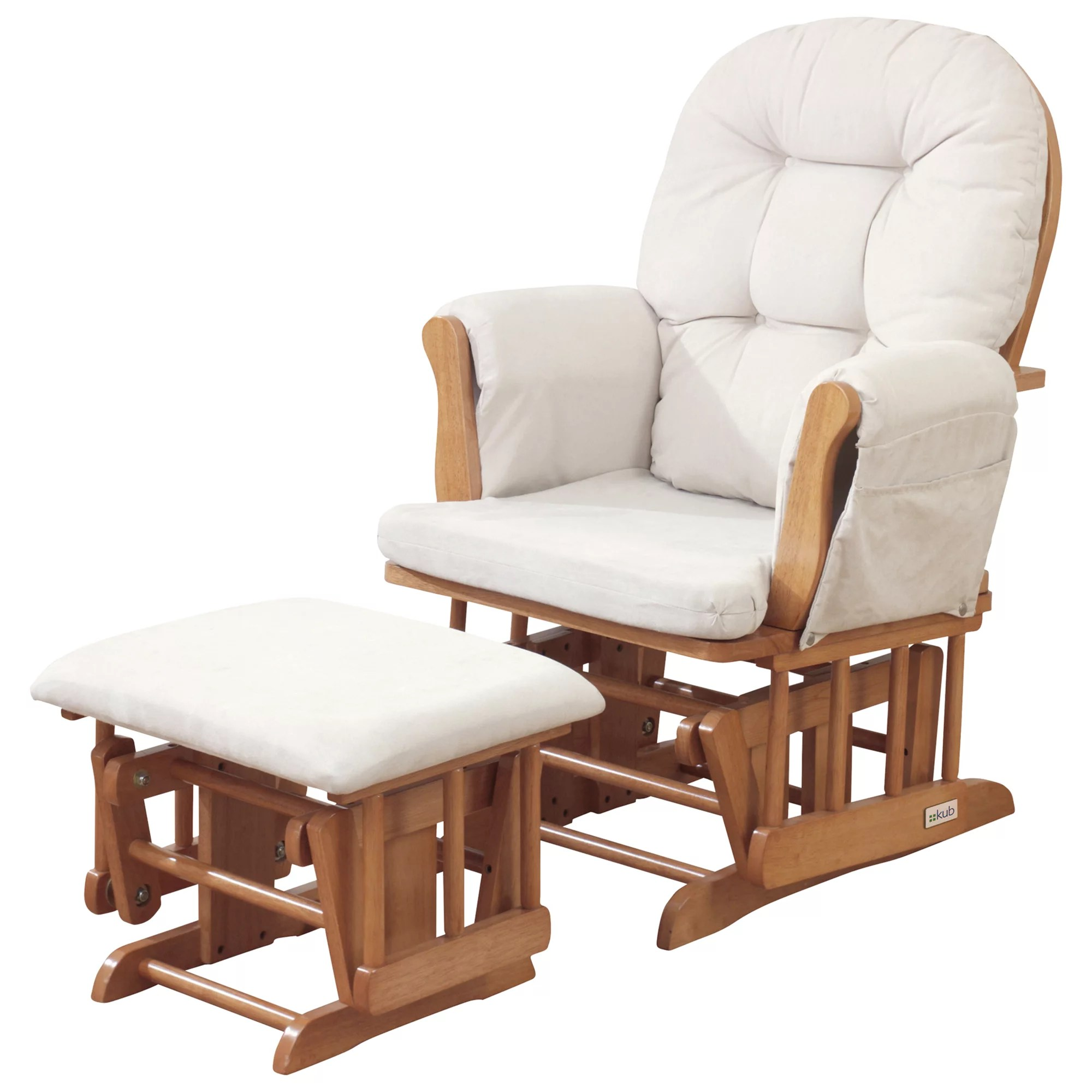 Baby Nursing Chair Kub Haywood Glider Nursing Chair And Footstool Natural At