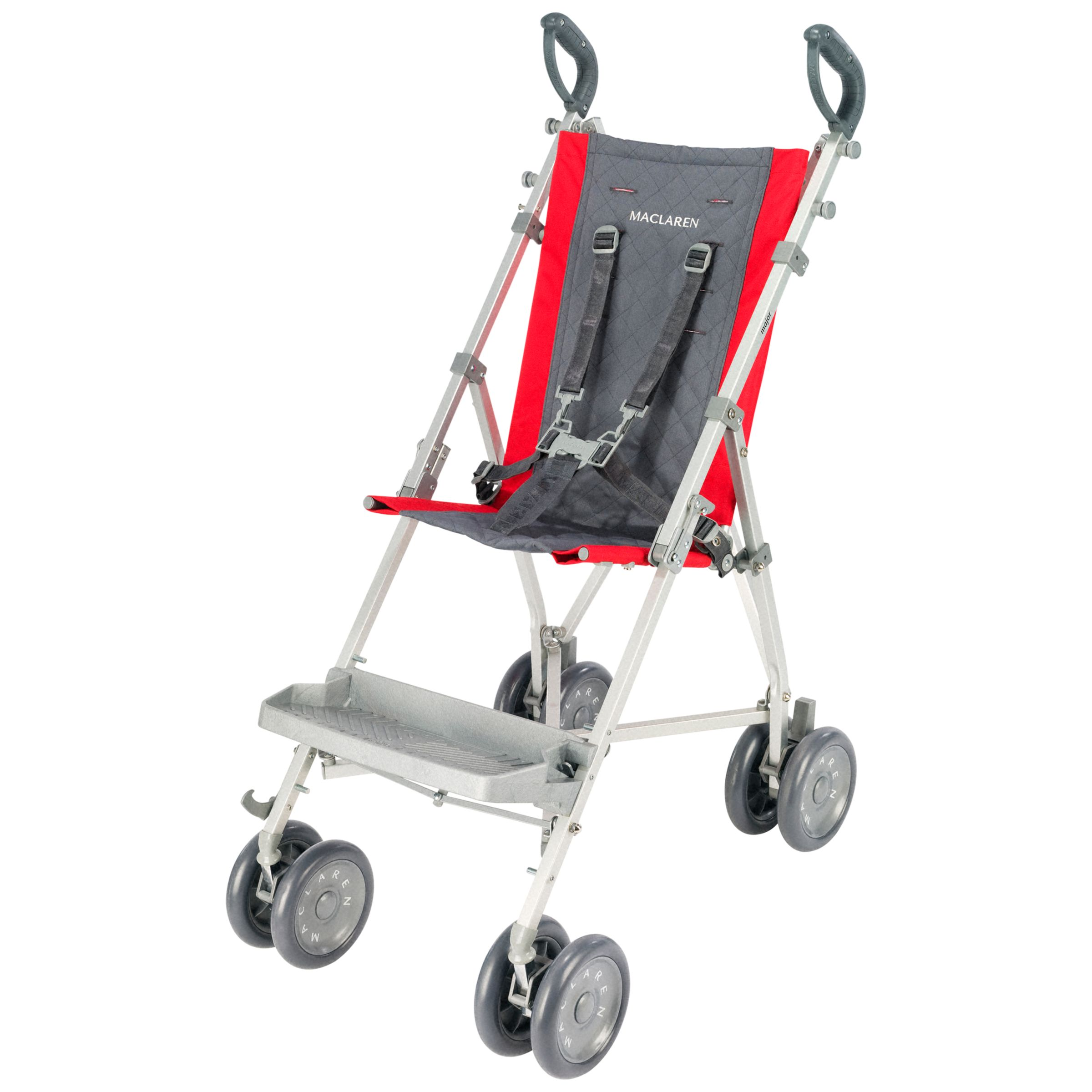 Maclaren Stroller Uk Reviews Maclaren Major Elite Pushchair Charcoal And Scarlet