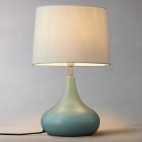 John Lewis Laura Touch Lamp | Fir Green at John Lewis