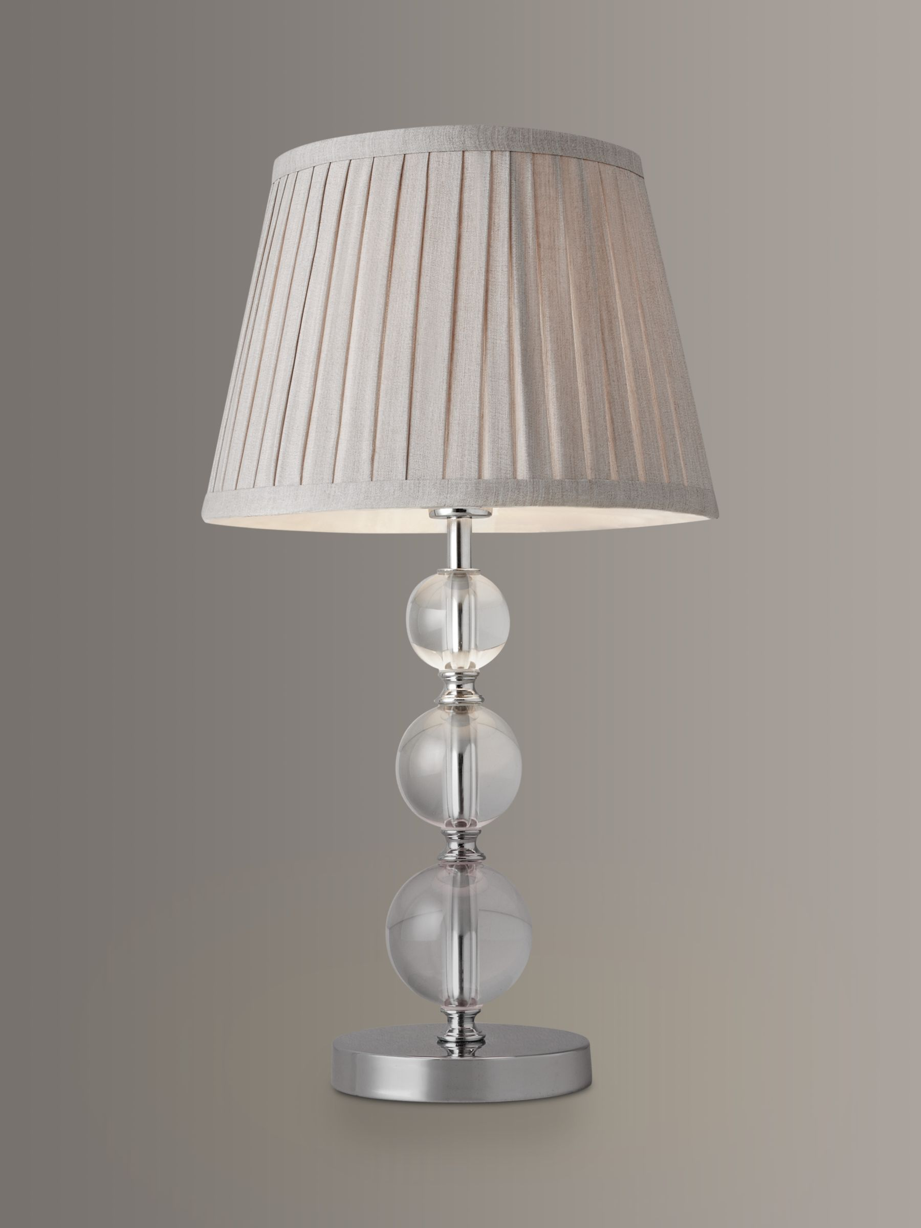 Glass Lamp John Lewis John Lewis Partners Lavinia Glass Ball Table Lamp Clear