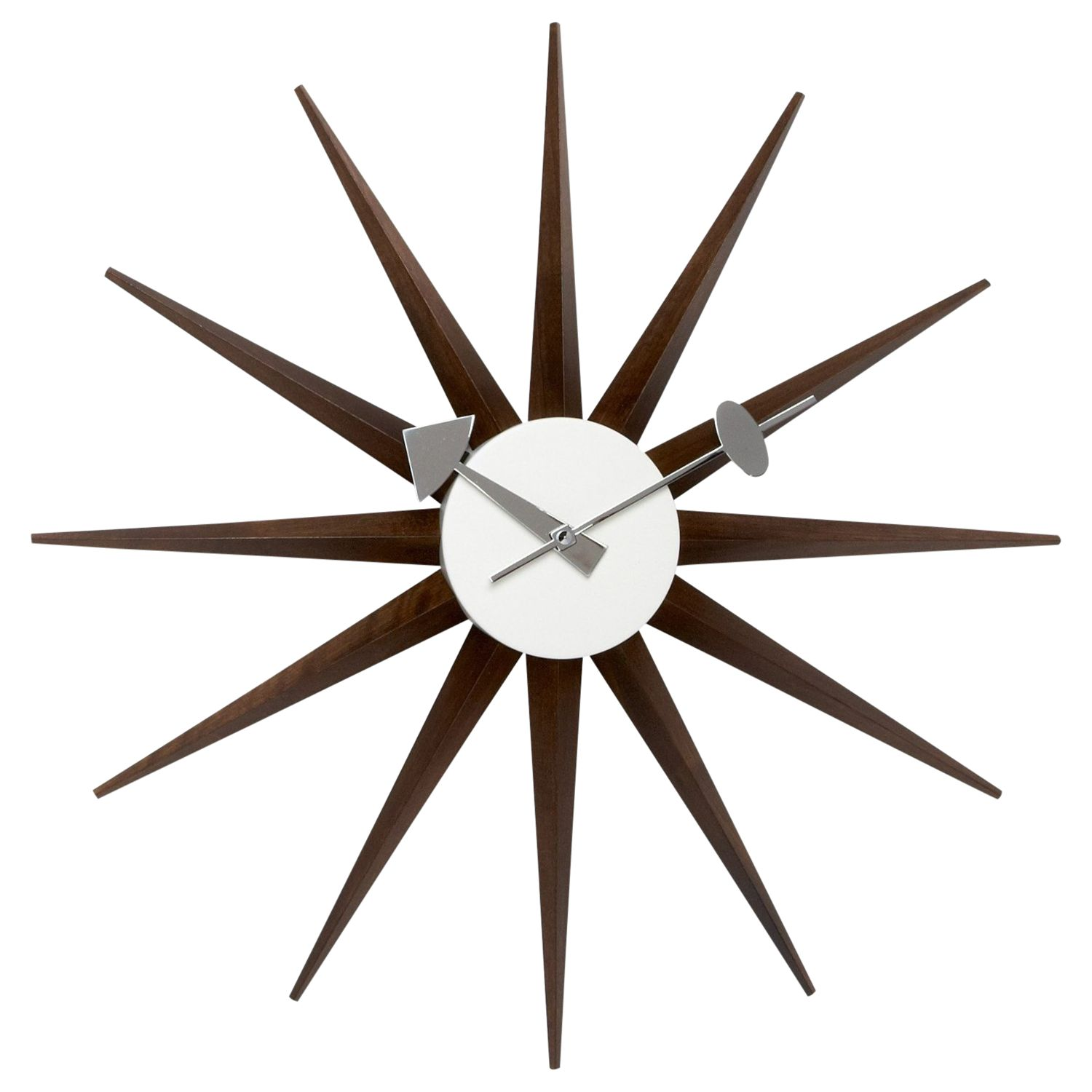 Vitra Clock Vitra Sunburst Wall Clock, Dia.47cm At John Lewis & Partners