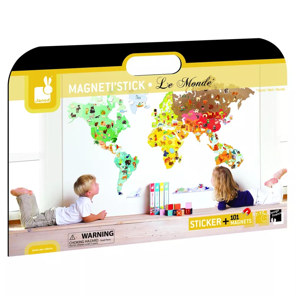 Cash Pool Jever Janod Magneti Stick World Map Wall Sticker At John Lewis Partners
