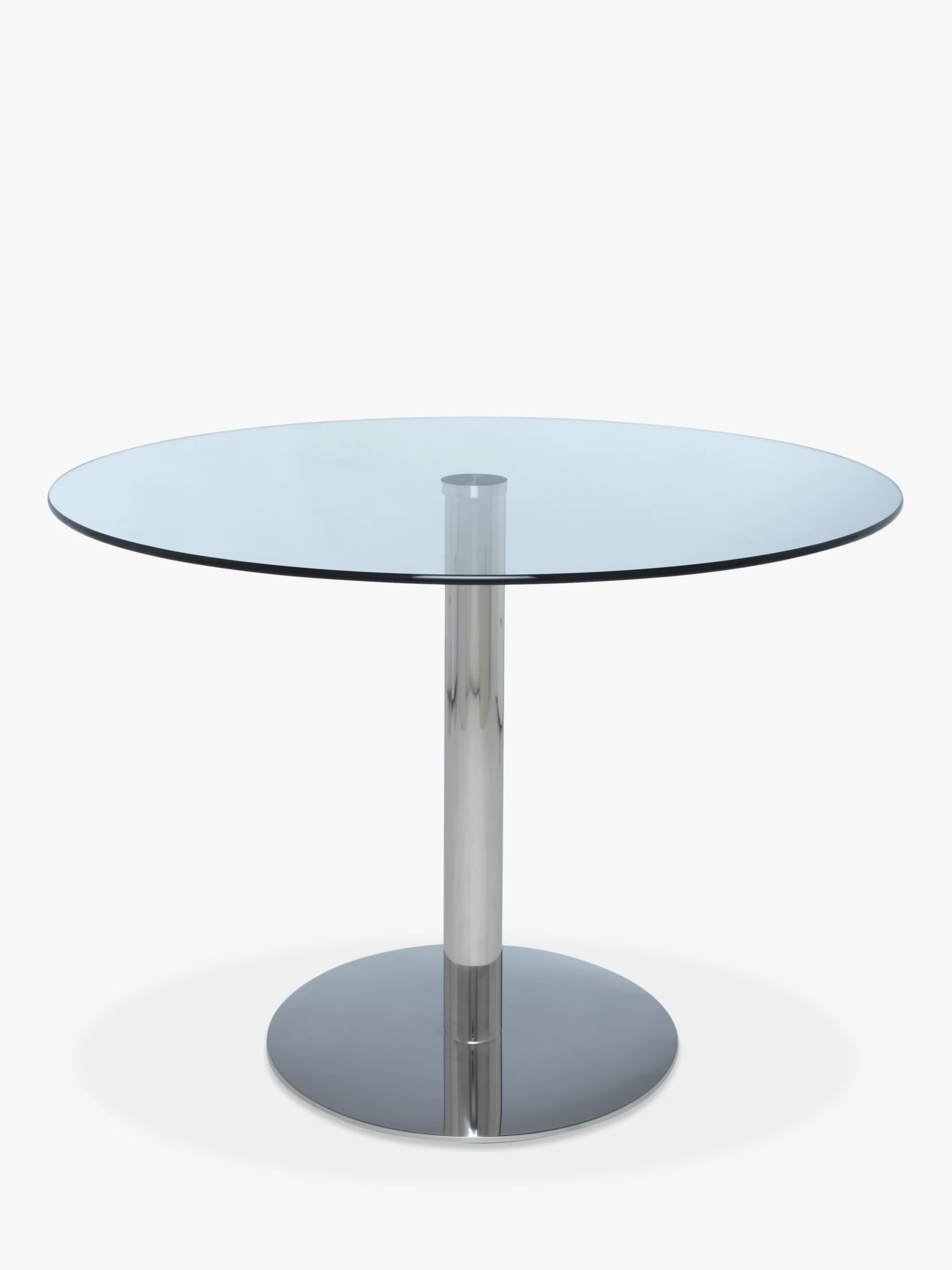 Round Glass Top Dining Table John Lewis Partners Enzo 4 Seater Round Glass Top Dining Table