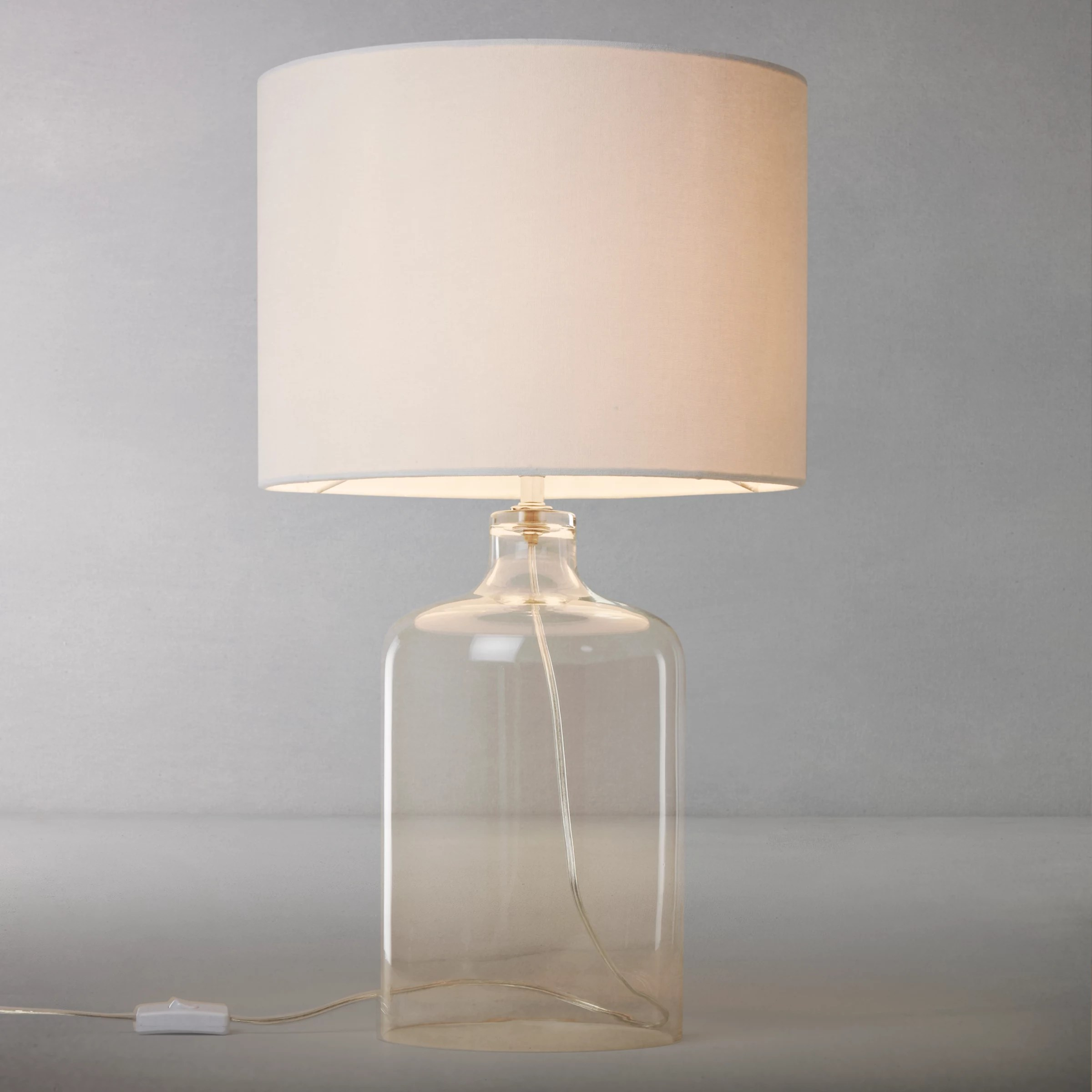 Glass Jar Lamp Shade John Lewis Croft Collection William Glass Bottle Table Lamp At John
