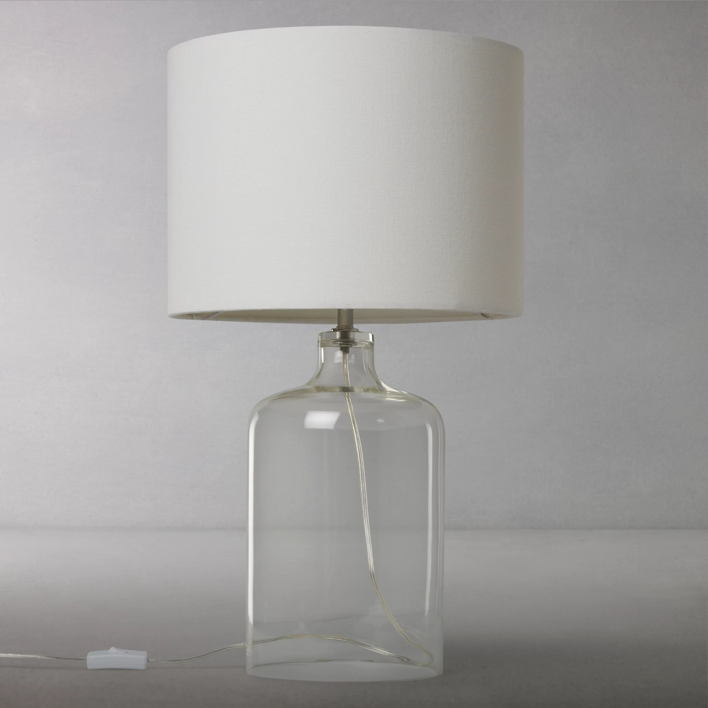 Glass Lamp John Lewis John Lewis Croft Collection William Glass Bottle Table Lamp