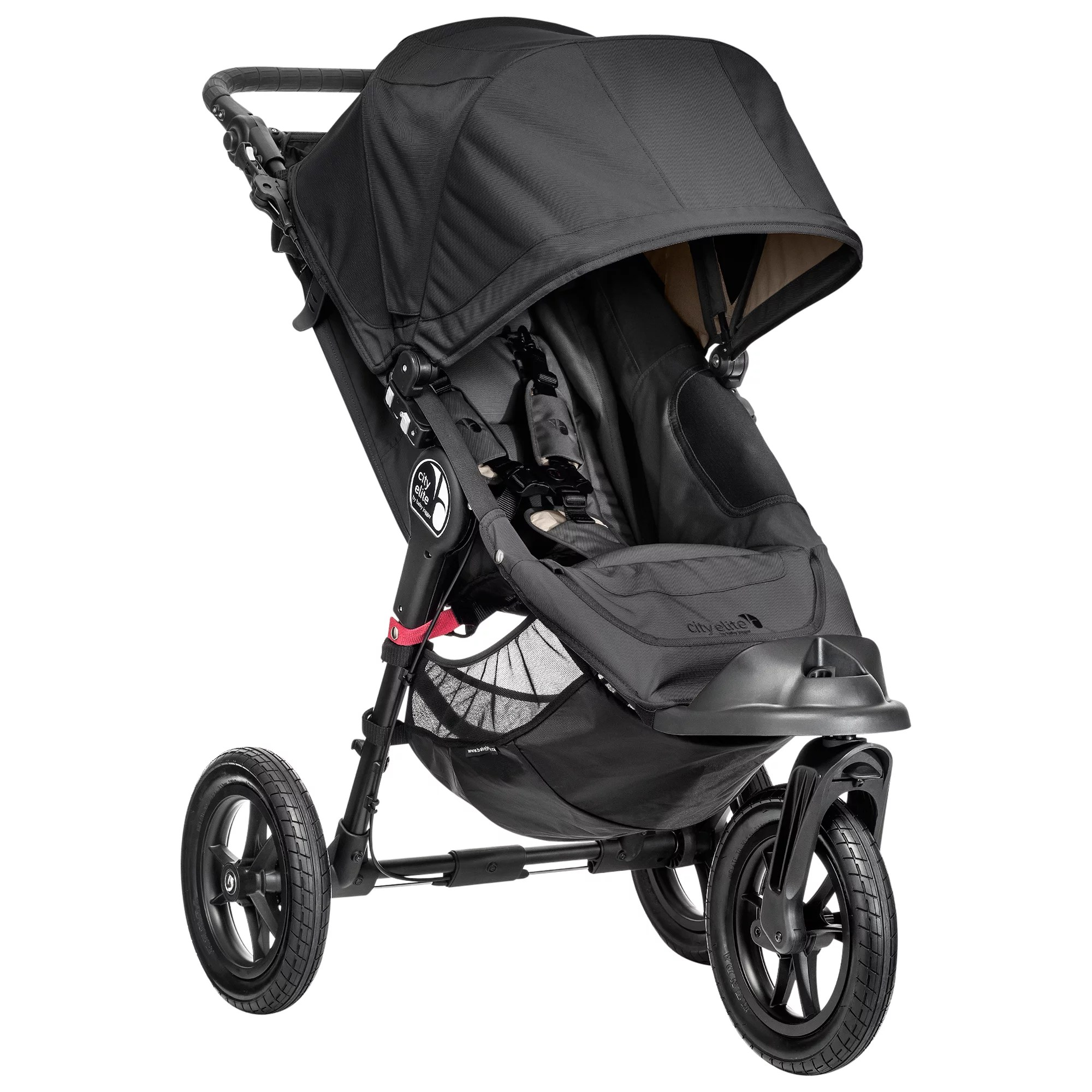 Jogging Stroller How To Use Baby Jogger City Elite Pushchair Black