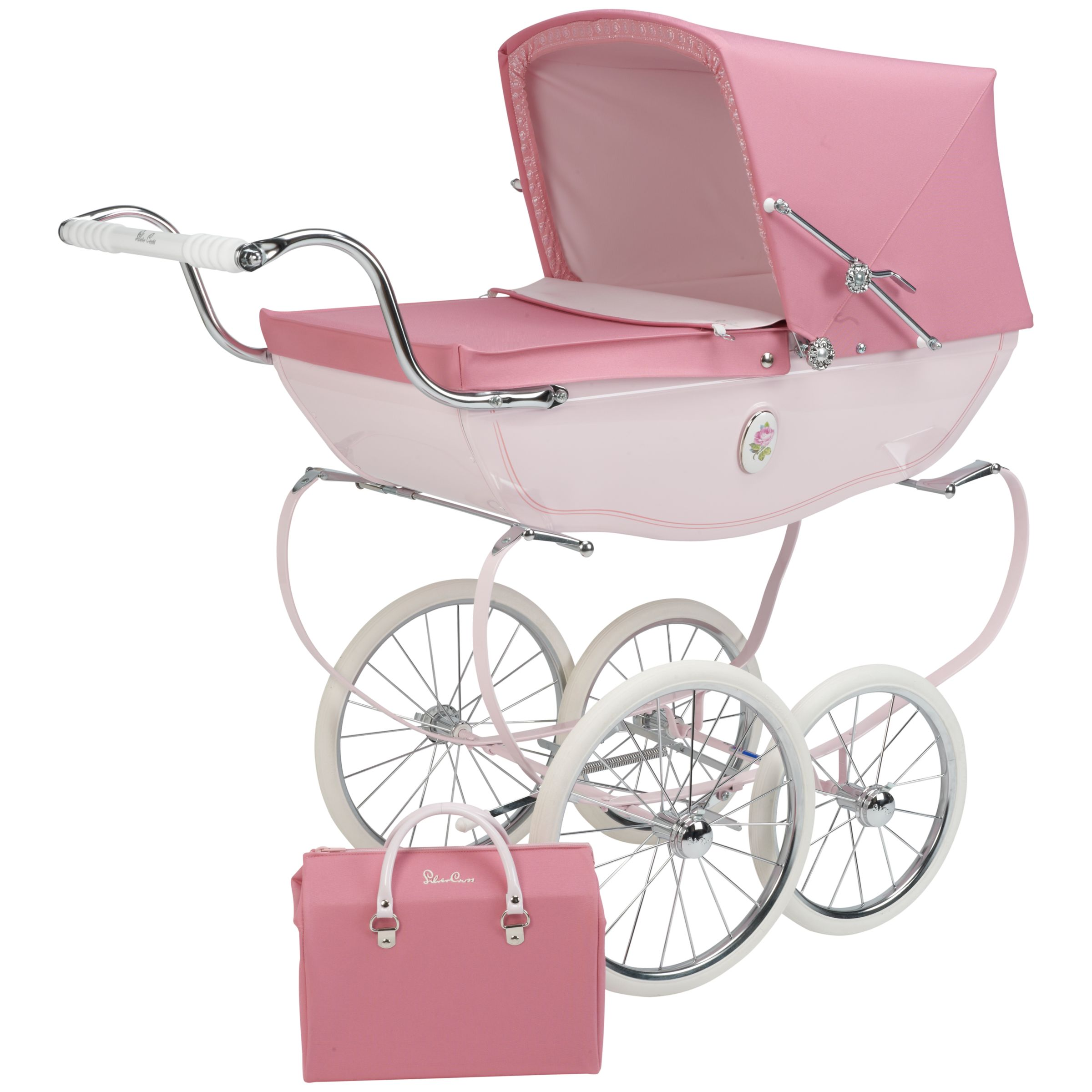 Toy Buggy With Car Seat Silver Cross Chatsworth Rose Doll S Pram