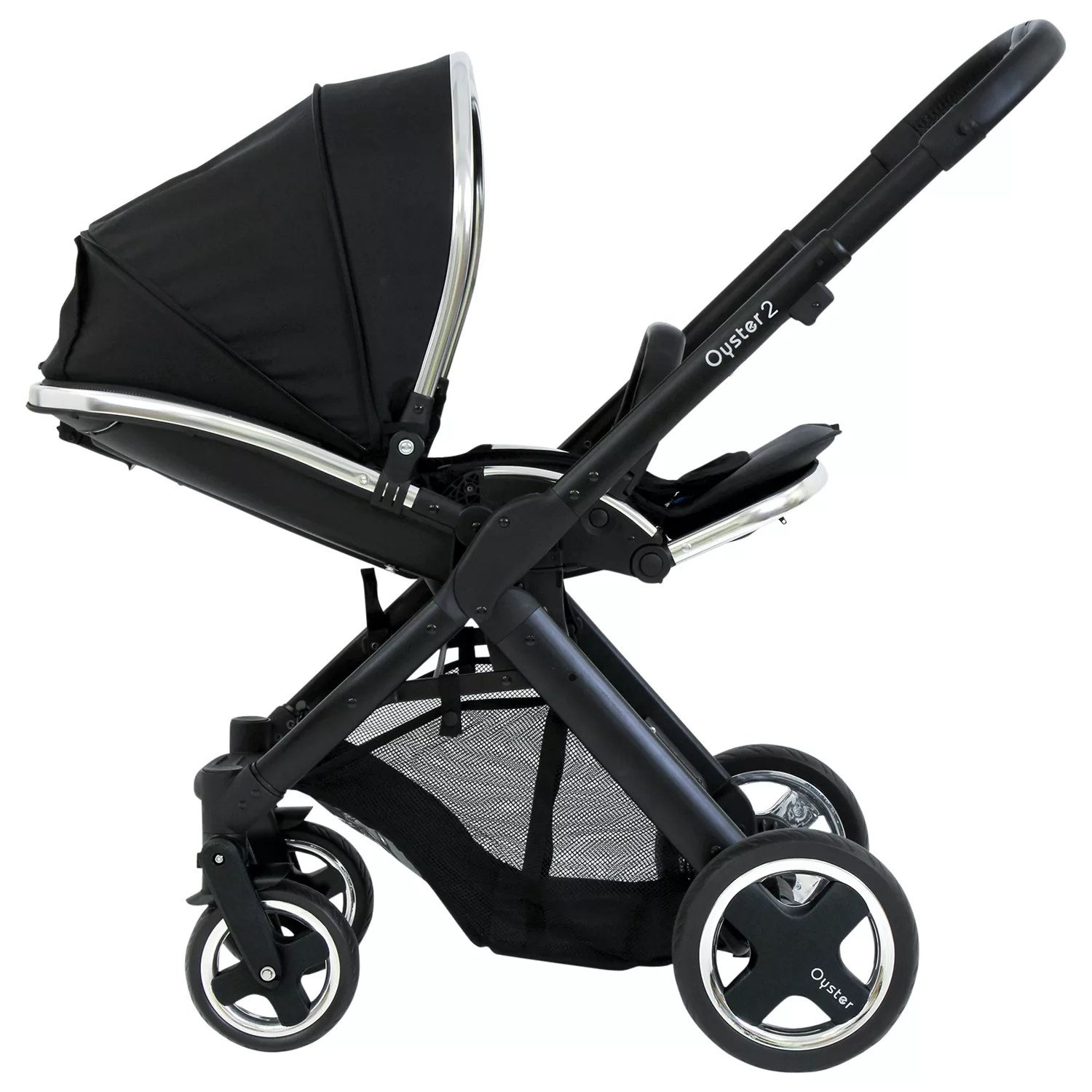 Pram Extra Seat Babystyle Oyster 2 Pushchair Chassis And Seat Black