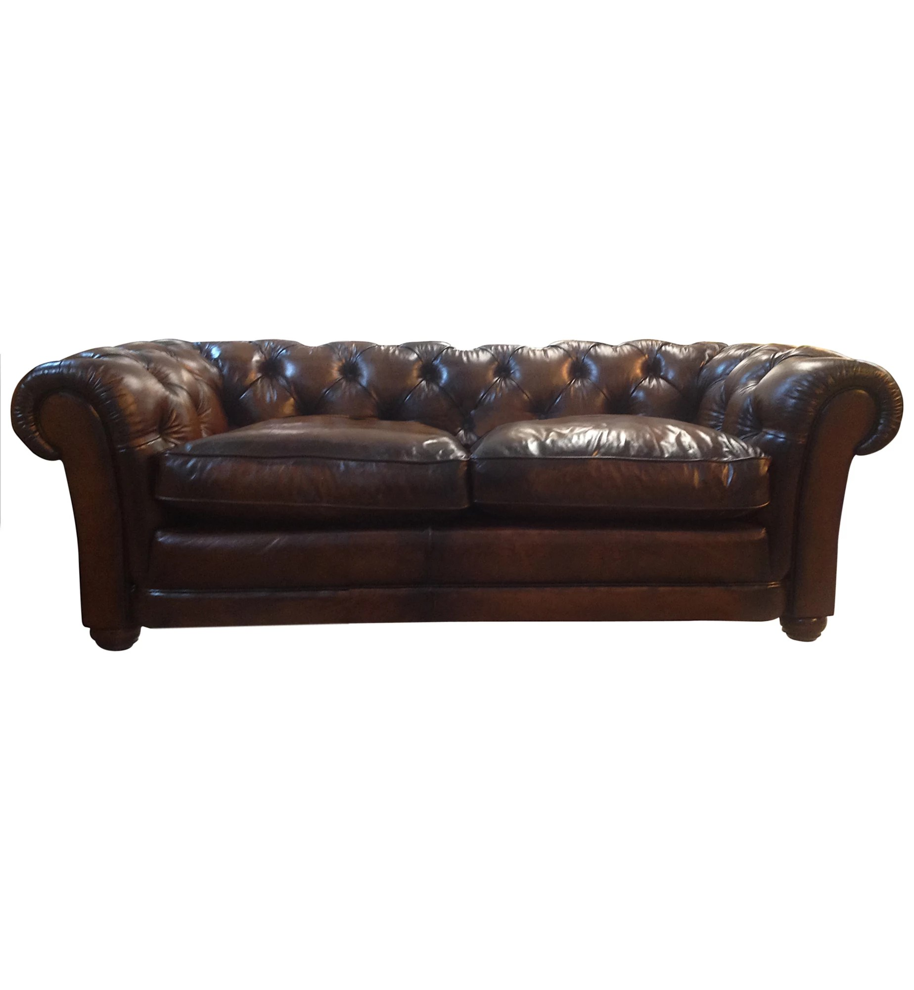 Leather Sofa Wellington Nz John Lewis Stanford Large Semi Aniline Leather Chesterfield Sofa