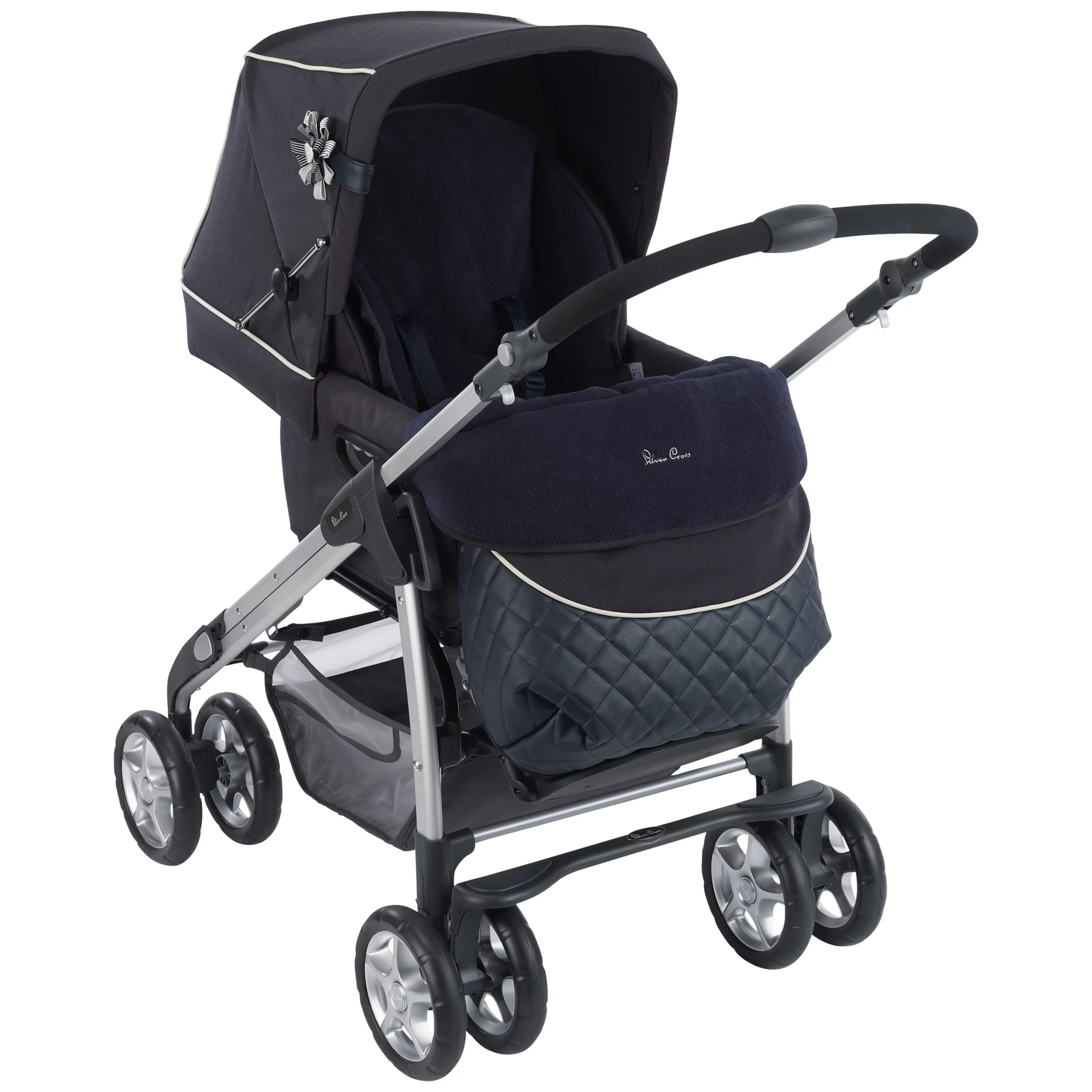 Silver Cross Elegance Buggy Board Silvercross Sleepover Elegance Pram Body Navy At John Lewis