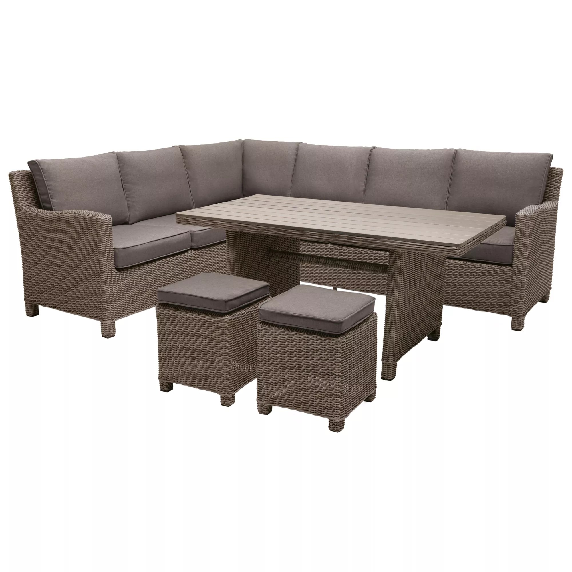 Bad Set Palma Kettler Palma 8 Seater Garden Corner Lounging Table And Chairs Set Rattan