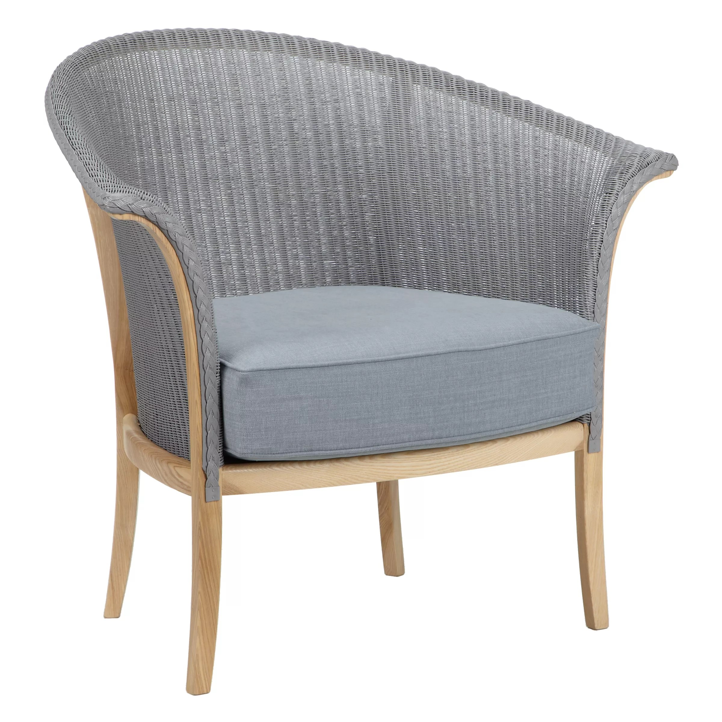 Lloyd Loom Sessel Lloyd Loom Of Spalding Chair Light Blue At John Lewis Partners