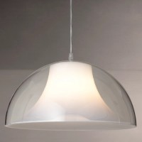 House by John Lewis Morf Acrylic Dome Pendant, Clear at ...