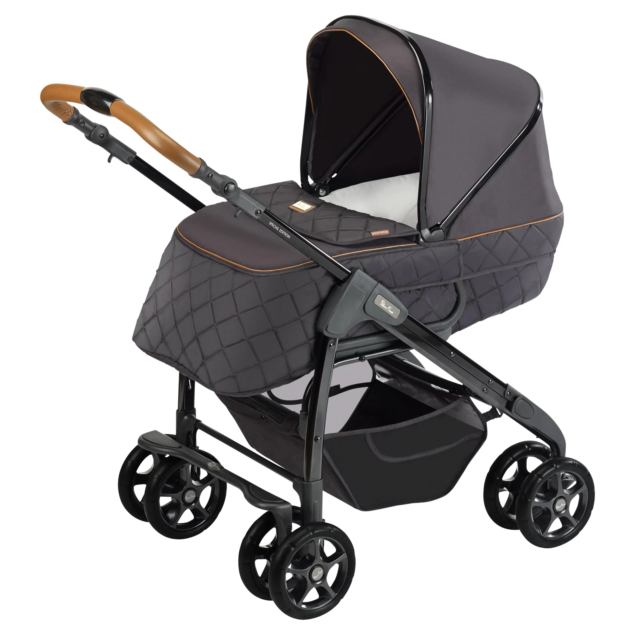 Baby Pram John Lewis Silver Cross Freeway Country Club Pram Black At John