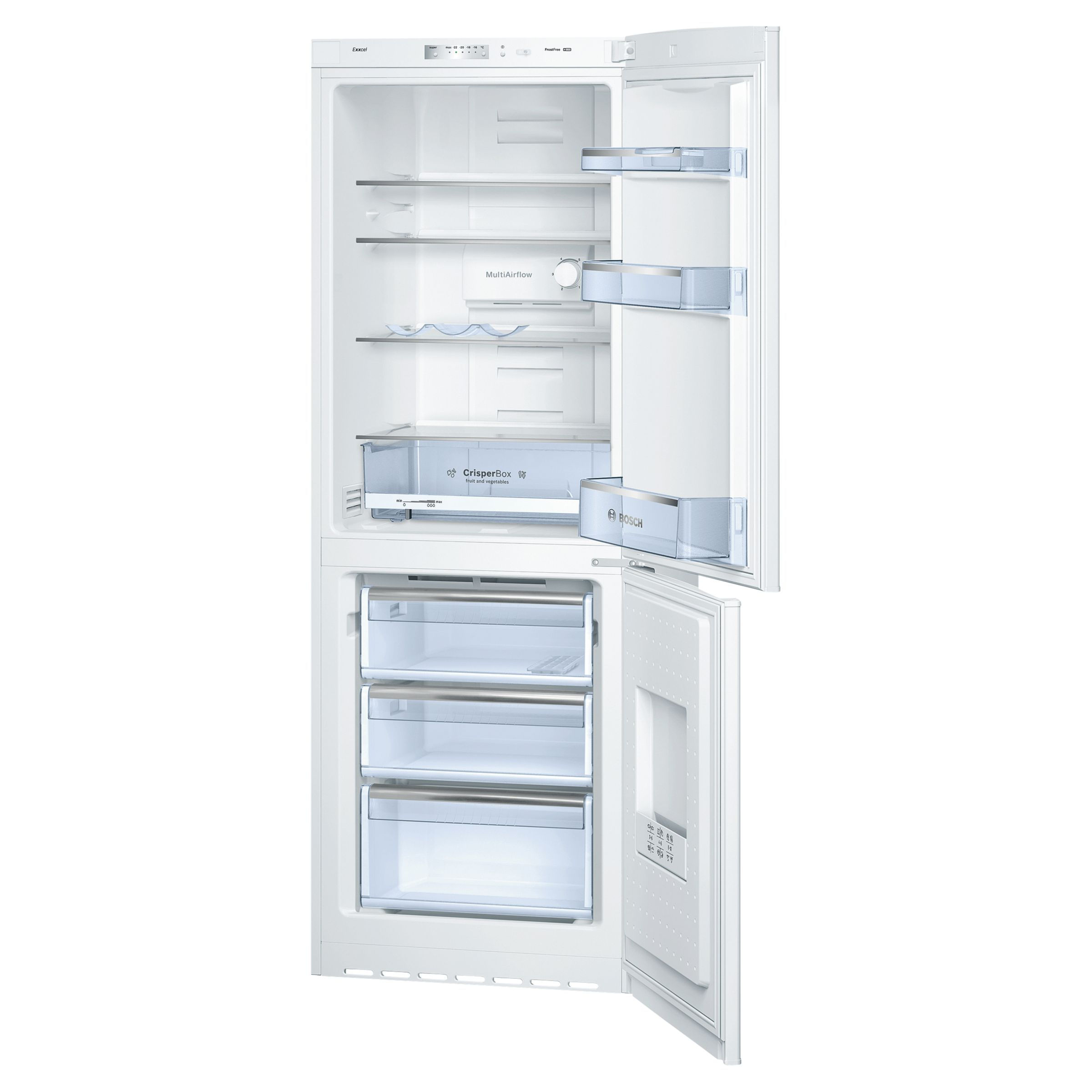 No Frost Bosch No Frost Kgn30vw25g Fridge Freezer A Energy Rating 60cm
