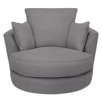 Buy Half Price Swivel Snuggle Chair Love Seat in Charcoal Grey
