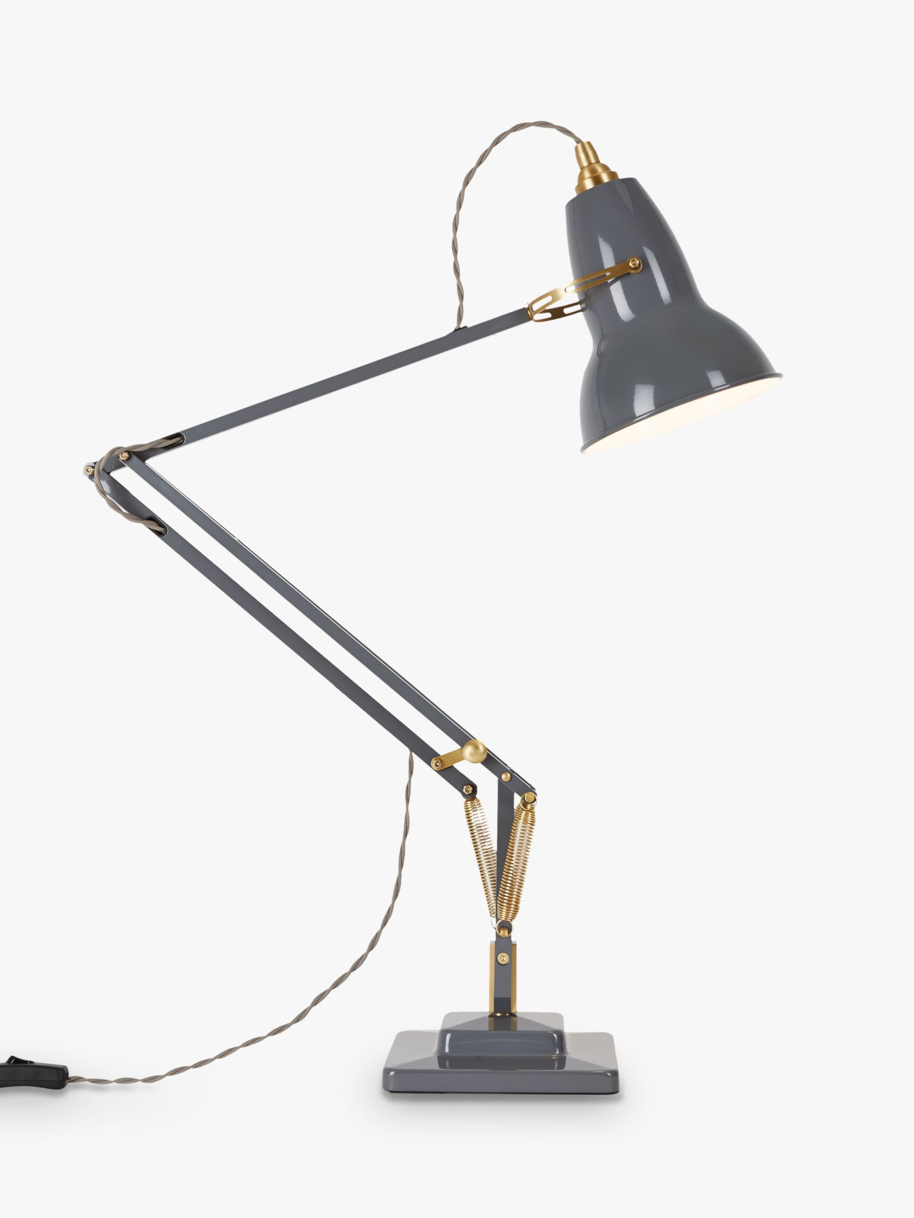 Anglepoise Original 1227 Brass Desk Lamp at John Lewis