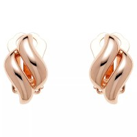 Buy Finesse Diamond Shape Clip-On Earrings, Rose Gold ...