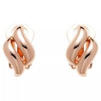 Finesse Diamond Shape Clip-On Earrings, Rose Gold at John ...