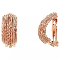 Buy Finesse Textured Clip-On Earrings, Rose Gold | John Lewis