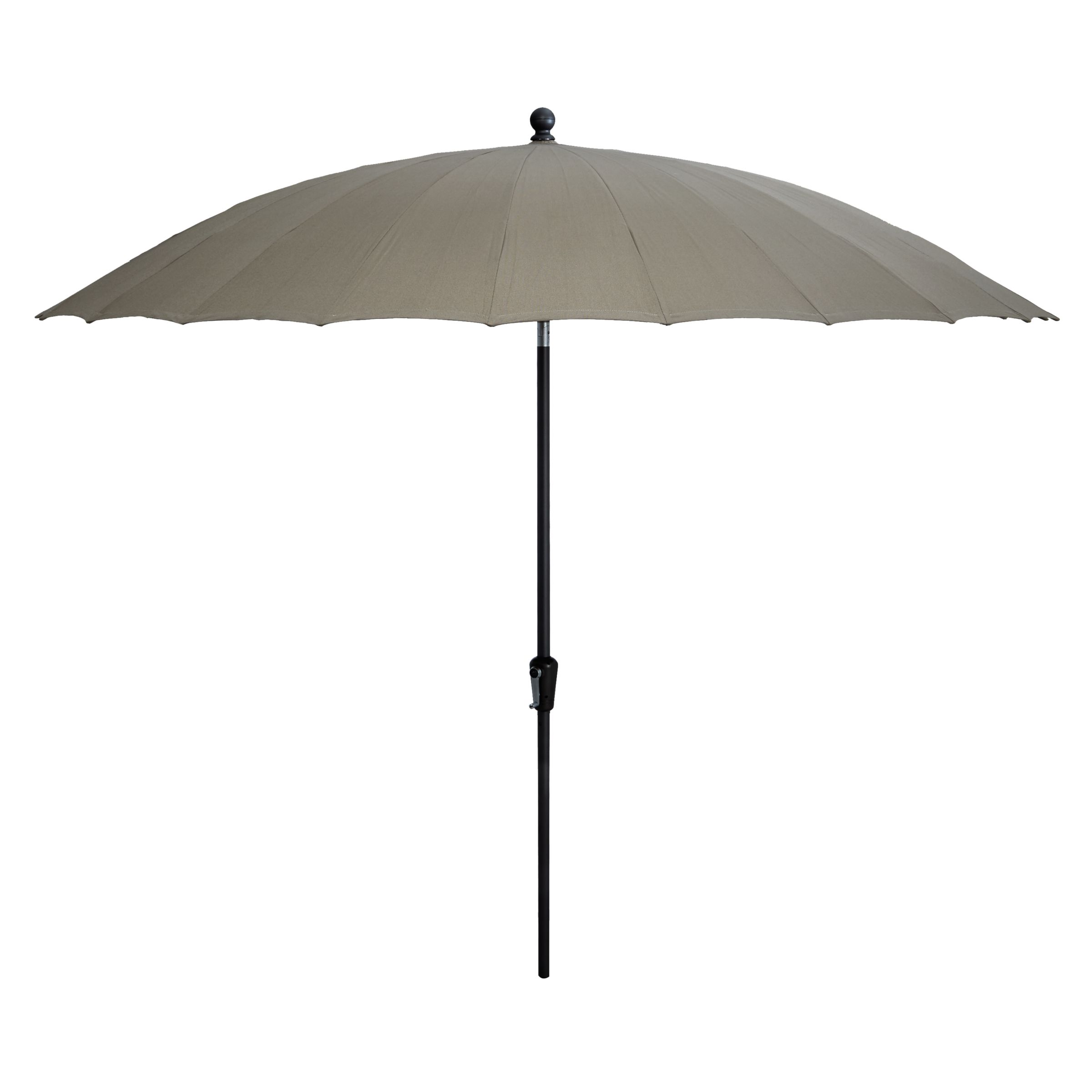 Parasol Taupe 4 Seasons Outdoor Shanghai Tilting Round Parasol Taupe 3m At