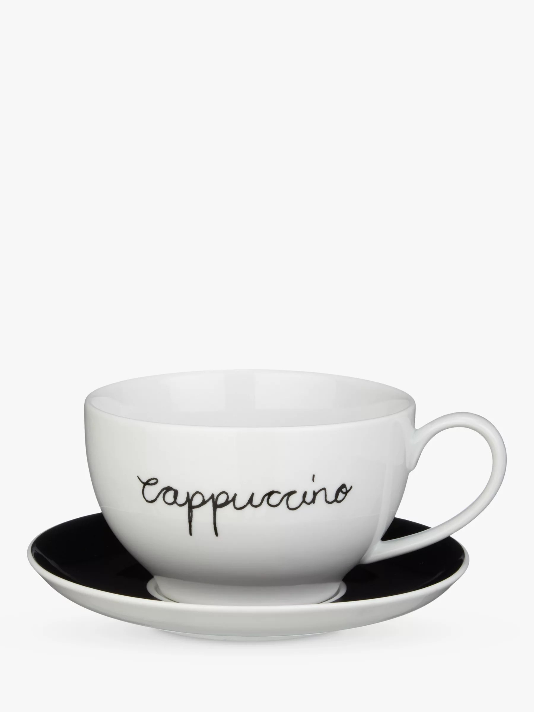 Cappuccino Cups Australia John Lewis Partners Cappuccino Cup And Saucer Set Of 4 Black