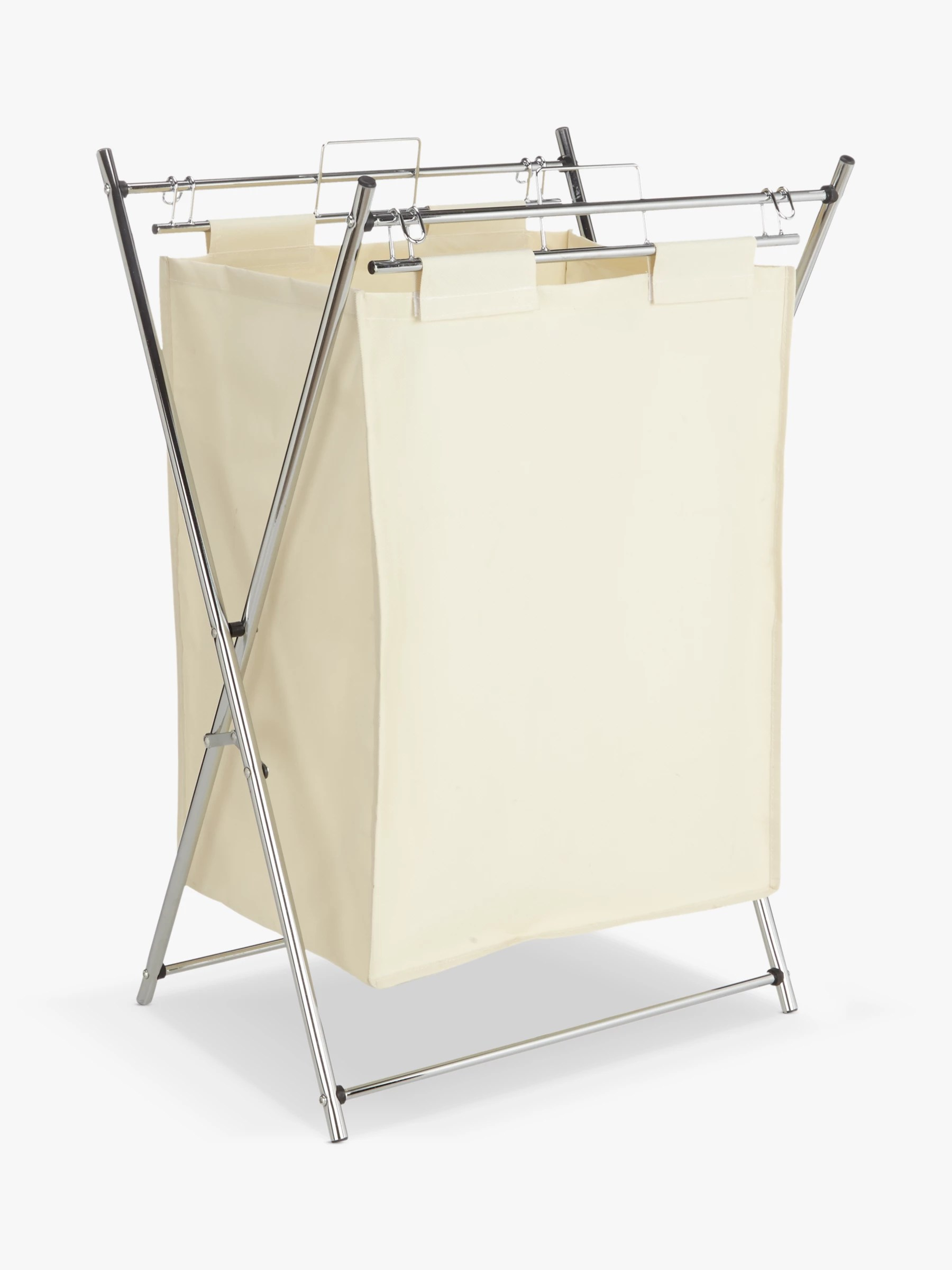 Chrome Laundry Basket John Lewis And Partners The Basics Chrome Foldable Laundry