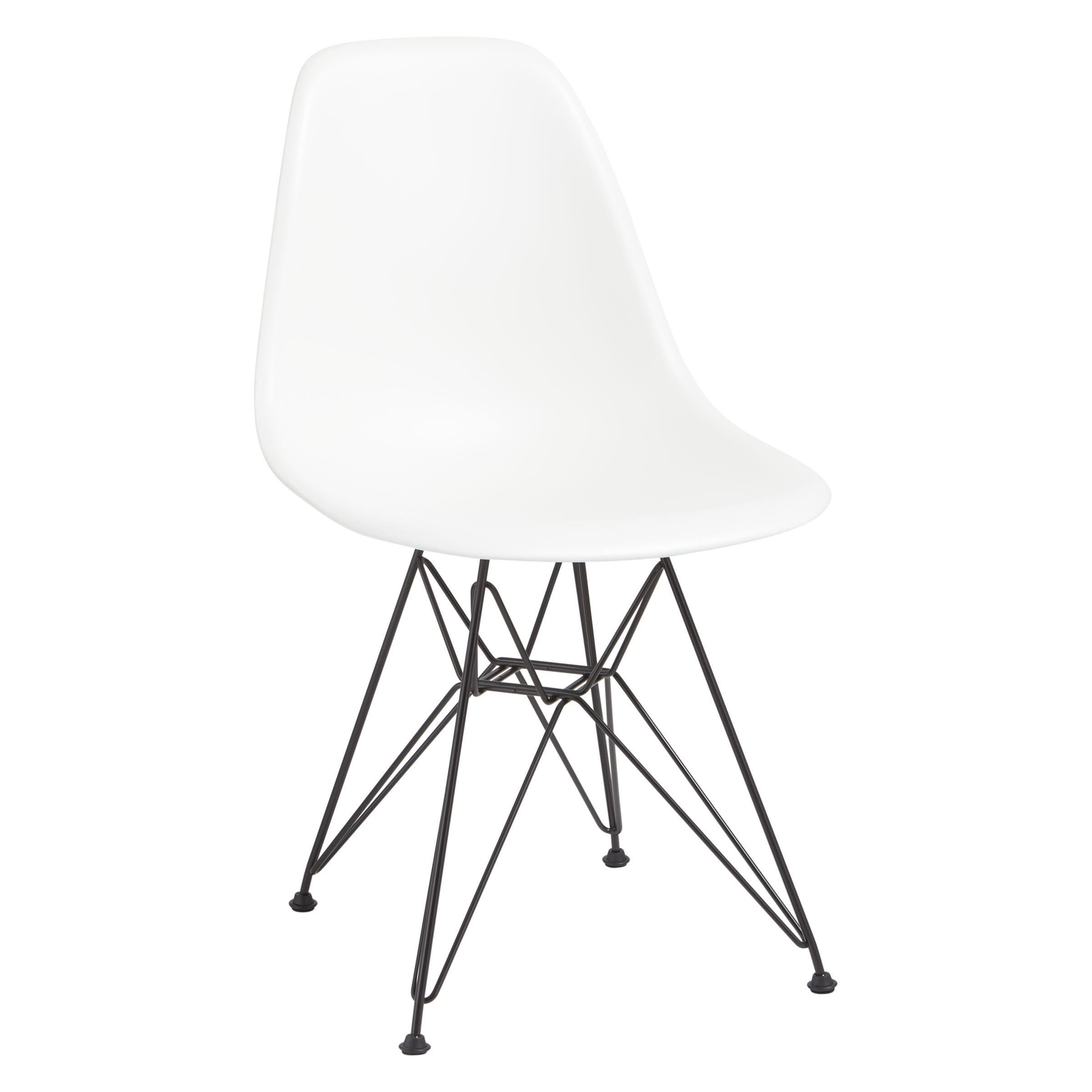 Vitra Eames Side Chair Vitra Eames Dsr Side Chair Black Metal Leg At John Lewis Partners